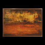 Quadro Abstrato Autêntico para Sala Quarto Escritório Hotel, 129x92cm, Vidro, Moldura em Madeira na cor Chocolate.