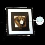 Kit de 2 Quadros Esportivos para Sala Quarto Hall Escritório Academias, 43X43cm C/ Vidro 3mm e Moldura em Madeira na cor Tabaco