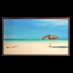 Quadro Paisagem de Praia Super Luxo para Sala Quarto Hotéis Escritório, 147x83cm C/ Vidro 3mm e Moldura Especial