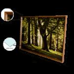 Quadro Decorativo Bosque Super Luxo para Sala Quarto Hotéis Escritório 163x114m C/ Vidro 3mm e Moldura chanfrada na Cor Tabaco
