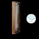 Par de Quadros Arvores Secas Sépia 42x22cm C/ Vidro 2mm e Moldura em Madeira na Cor Caramelo Escuro