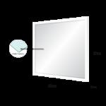 Espelho 29x29cm C/ Vidro 2,5mm e Moldura na Cor Branca