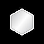 Espelho Hexagonal 52x45cm C/ Vidro 2,5mm e Moldura Branca