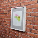 Kit de 3 Quadros Abstratos 39x39cm + 1 Quadro para Cozinha 26x32cm + 1 Quadro para Banheiro ou Lavabo 20x20cm