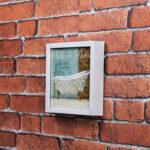 Kit de 2 Quadros Florais 42x42cm + 1 Quadro para Banheiro ou Lavabo 20x20cm + 1 Porta Retrato para Foto 21x15cm