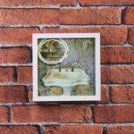 Kit de 2 Quadros Botânicos 39x39cm + 1 Quadro para Banheiro ou Lavabo 20x20cm + 1 Quadro sem Gravura 44x32cm + 1 Porta Retrato para Foto 21x15cm