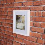 Kit de 2 Quadros para Banheiro ou Lavabo 31x31cm + 1 Quadro Porta Chave 30x30cm + 1 Porta Retrato para Foto 21x15cm