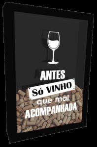 Quadro porta rolha antes so vinho